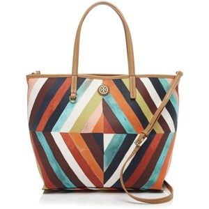 Tory Burch Bags - Tory Burch 'Kerrington' diamond multi-color tote